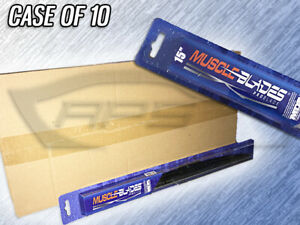 """MUSCLE BLADES 15"""" TRADITIONAL WINDSHIELD WIPER BLADE - MDB-15 - CASE OF 10"""