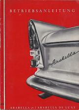 LLOYD ARABELLA Betriebsanleitung 1961 Bedienungsanleitung Handbuch Bordbuch BA