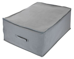 Sorbus Jumbo Foldable Storage Organizer Bag (Closet Storage Bag - 1 Pack, Gray)