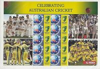 2003 Stamp Sheet 'Celebrating Australian Cricket' SES - P Sheet 10 x 50c MNH