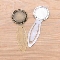 2Pcs 20mm Inner Size 2 Colors Product New Vintage Style Handmade Round Bookmarks