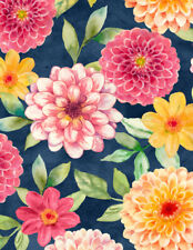 FABRIC FLORAL PRINT-PRELUDE-WILMINGTON-1810 42420 437-QUILTING BY 1/2 YD