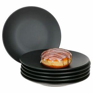 MamboCat 6er Set Kuchenteller Leopard Lampart schwarz Dessertteller Geschirr