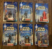Star Wars Attack Of The Clones Atoc 6 MOC Lot Shaak Ti Droid Guard Typho Etc