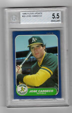 1986 Fleer Update Jose Canseco Oakland Athletics #20 Baseball Card - BVG 5.5 Ex+