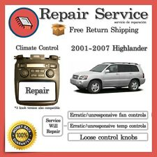✅CLIMATE CONTROL A/C REPAIR Toyota Highlander 2001 2002 2003 2004 2005 2006 2007