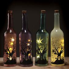 Glass Light LED Jar Fairy Tree Wine Bottle Kitchen Decor Ornament Gift Figure