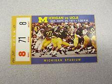 Michigan vs. UCLA 1971 Football Ticket Stub