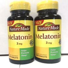 Nature Made Melatonin 3mg 240ct-2 Pack - Exp. Date 11-2019