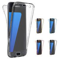 Neu 360 Grad Handy Huelle Rundum Schutz Cover Tasche TPU Case Vorne + Hinte X4T5