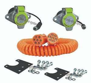 Suzi Cable Complete Kit 1 Camera with Flat Fixing Plates 7Pin 4mtr Orange Cable
