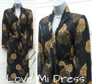 Gorgeous 70's Style Midi Dress Sz 12 EU40