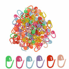 30Pc Mix Color Knitting Crochet Locking Stitch Markers Holder Plastic Clip Craft
