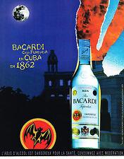 PUBLICITE ADVERTISING 075  2001  RHUM  BACCARDI de CUBA