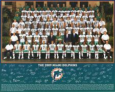 2009 MIAMI DOLPHINS NFL FOOTBALL TEAM 8X10 PHOTO