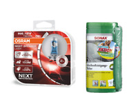 OSRAM H4 NightBreaker Laser +150% +Sonax Reinigungstücher +Microfasertuch PLUS
