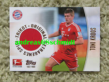 TOPPS BUNDESLIGA CHROME 2013 2014 Bayern München TONI KROOS 13 14 - Trikot Karte