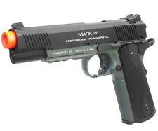 KWA Full Metal PTP M1911 MK IV NS2 Gas Blowback Pistol Airsoft Gun OD Green