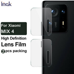 "2pcs IMAK Clear Camera Lens Tempered Glass Film For Xiaomi Mix 4 6.67"""