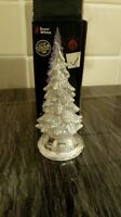 Light Up Christmas Tree SILVER 10cm battery operated colour changing Decoration.