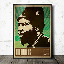 Thelonious Monk Art Poster Musique Jazz Coltrane Charles Mingus Miles Davis