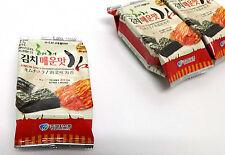 (4g x 15 Packs) Kimchi Seasoned Korea Sea Seaweed Roasted Laver Snack Nori