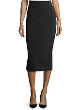 Armani Collezioni Solid Back Zip Midi Pencil Skirt Collection Sz 46 IT 1