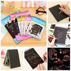 1Pc Black Cardboard Creative DIY Draw Sketch Kids Notebook Zakka School Supply