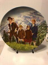 "Sound Of Music - 1987 Knowles Collector Plate - ""Climb Ev'ry Mountain� Nib Coa!"