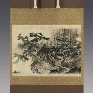 LANDSCAPE JAPANESE Print PAINTING  HANGING SCROLL OLD JAPAN Picture 913m