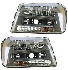 NEW Chevrolet Trailblazer 02-09 Pair Set of 2 Headlights Head Lamps Eagle Eyes