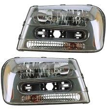 NEW Chevrolet Trailblazer 02-09 Pair Set of 2 Headlights Head Lamps Eagle Eyes