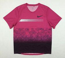 Nike Elite Pro Sponsored Pink USA USATF Running Racing Tee T Shirt Men Medium M