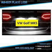 PREMIUM VW Golf MK5 V TSI GTI TDI R32 LED 2003-2009 Number Plate Light Bulbs
