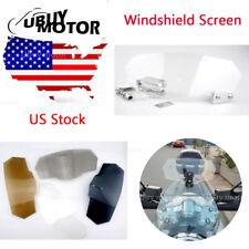 Clip On High Deflector Windshield Windscreen For YAMAHA FZ1 FZ6 FJR1300 FJ-09