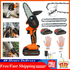 More details for 550w 2 battery electric cordless wood cutter mini saw chainsaw woodworking
