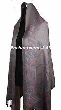 Handmade Stunning MAGNOLIA 2-Ply 100% Cashmere Pashmina Shawl Wrap Scarf, Taupe