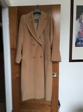 Max Mara Maxmara Camel Wool Winter Coat 10 6 42