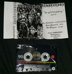 Dissection The Grief Prophecy Demo cassette tape Black Death Metal Mayhem Morbid