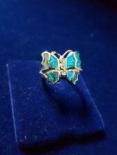"""Anello Arg.925 """"Farfalla"""" Opali-Silver """"Butterfly"""" Opals ring"""