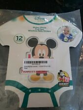 Disney Mickey Mouse Set of 12 First Year Milestone Belly Stickers New!