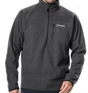 New Men Berghaus Spectrum Micro Fleece Jacket Coat Tracksuit Sweatshirt Black
