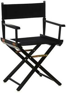 "Casual Home Director's Chair ,Black Frame/Black Canvas,18"" - Classic Height"