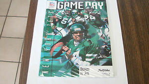 Miami Dolphins Sept. 1996 vs NY Jets Game Day Magzine Neil O'Donnell on cover