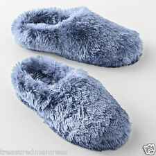 SO Plush Clog Slippers Scuffs  ~  Size Medium (7-8) ~ Light Blue ~ NWT