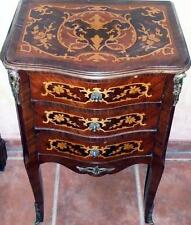 KOMMODE TISCH  NACHTTISCH INTARSIEN COMMODE Barock Rokoko Empire 18 19 antik
