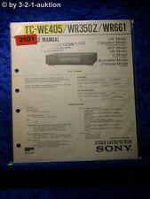 Sony Service Manual TC WE405 / WR350Z / WR661 Cassette Deck (#2501)