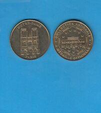 ParisCathédrale  Notre-Dame N° 1 Face simple   2001 Médaille Monnaie de  Paris