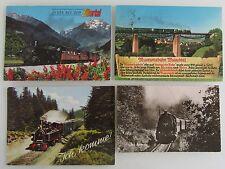 Postkarten Lot 4x EISENBAHN Zug Züge, ua. Zillertalbahn, Museums-Bahn Mutachtal