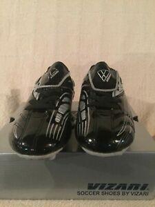 New in Box Youth Vizari Striker FG Black/Silver Soccer Cleats #93290